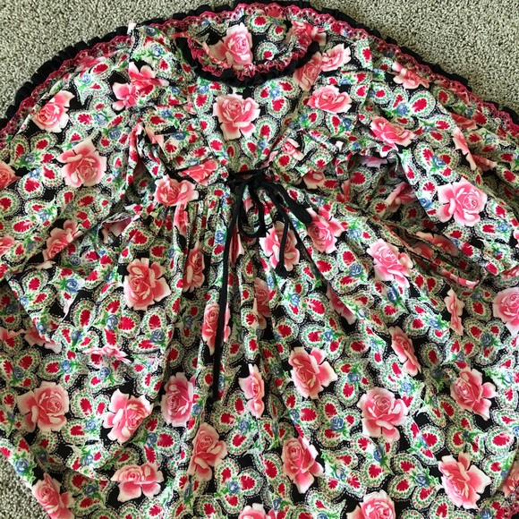 Mouse Feathers Other - VINTAGE Mouse Feathers girls floral dress 6x